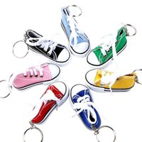 Keychains Key Ring Canvas Shoes Keychain Bag Charm Woman Men Kids Holder Gift Sports White Sneaker Chain Funny Gifts Accessories
