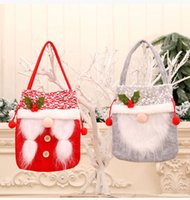 Drawstring Christmas Faceless Doll Gift Storage Cinch Bag Handmade Candies Apple Candy Bags