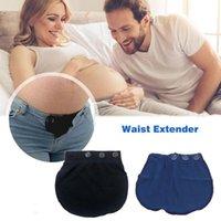 Pantaloni elastici in vita di gravidanza di maternità Pantaloni elastici regolabili morbidi allunganti estendendo gli estensori del bottone