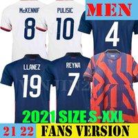 2021 Amerika Birleşik Devletleri Futbol Formaları Uzakta 2022 Pulisik Dest McKennie Reyna Adams Weah Musah Leticget 21 22 Erkekler Çocuklar Kiti Futbol Gömlek Tayland Maillots de Foot