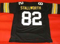 Cheap Retro # 82 John Stallworth Mitchell Ness Jersey Black Mens Stitching Tamaño de gama alta S-5XL Jerseys College NCAA
