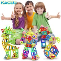 Kacuu 100-180pcs Mini Designer magnetico Costruttore Set Modello Building Building Blocchi Magnetici Giocattoli educativi per bambini Regali Q0723