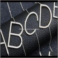 목걸이 펜던트 쥬얼리 드롭 배달 2021 패션 옆으로 개인화 된 A-Z 문자 이름 초기 골드 시어 도금 스테인레스 스틸 목걸이