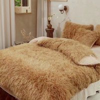 Fashion, modern, simple, four piece set of mink Plush bed in winter