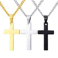 Pendant Necklaces 10 Piece Wholesale Price Stainless Steel Cross Pendants Necklace For Women Men Unisex Jewlery
