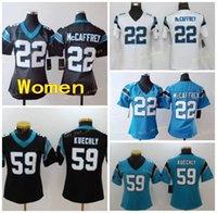 Mulheres Caroiina Senhoras Penner 59 Luke Kuechly 22 Cristão McCaffrey Stitched Football Jerseys