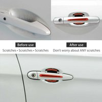 8 pieces Car Door Handle Reflective Stickers Scratch Protection Cover Warning Strip Truck Stickers Anti-Scratch Protective Film