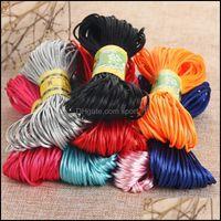 COMPONENTES DE ALAMBRE JOYERO1MM Cordón de fibra de poliéster Cuerda de la cuerda de la cuerda de la cuerda de la cuerda para el collar de bricolaje Pulsera Hallazgos de la joyería que realizan la entrega de caídas
