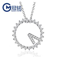 مجوهرات فضة جوانغ S925 الكورية 520 ساعة قلادة مايكرو الماس الدائري قلادة هدية عيد الحب