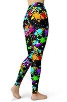 Sissycos 2021 Женщины брызг галстук краситель напечатанные леггинсы весенние чернила точек узор стрейч толчок штаны высокая талия ультра мягкие брюки Y0327
