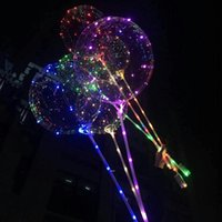 LED Bobo Balloon With 31.5inch Stick 3M String Balloon LED Light Christmas Halloween Birthday Balloons Party Decor Bobo Balloons ZZF9149
