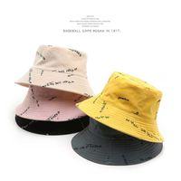 SLECKTON Fashion Bucket Hats for Women Summer Sun Hats Casual Fisherman Hat Ladies Print Panama Caps Double-sided Wearable 210616