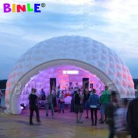 custom made 8m giant igloo dome inflatable tent with led and blower for outdoor parties or events