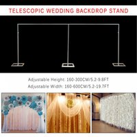 3MX6M Wedding Mariage Square Wrought Iron Background Frame Adjustable Backdrop Curtain Stand Flower Yarn Shelf Party Events DIY Decoration