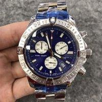 럭셔리 남성 시계 48mm 큰 다이얼 스테인레스 스틸 시계 남자 날짜 석영 운동 대통령 디자이너 손목 시계