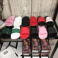 Femmes Blooms Pantoufles en toile imprimée Été Hommes Plat Plat Sandales Sandales Mode Designer Femme Homme Cool Cool Sandal Sandal Shoe avec boîte grande taille 35-45