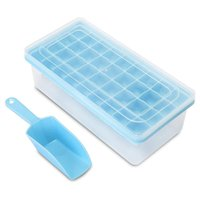 Baking Moulds 36 Cubes Silicone Ice Cube Tray With Lid And Bin Laddle For Freezer Mini Mold Bucket Scoop Maker