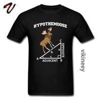 Pythagoras Hypothemoose Math Mathematics Adjacent Printed Tshirts Mens Geometric Triangle Summer Classic Elk Deer t Shirt