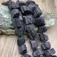 Große rohe mineralische schwarze tourmaline diy halskette armbänder ohrringe natürlichen kristall nugget lose steinperlen für schmuck machen