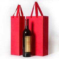 هدية التفاف الإبداعية أكياس تغليف الورق هدايا مربع مع سلسلة ل حمراء النبيذ النفط شامبانج زجاجة كاري حامل التعبئة 1 652 R2