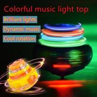 Spinning Top Toy Kinder neuster Junge im Freien Junge leuchtend rotierende bunte Musik-Flash-Gyro