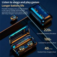 F9-10 TWS Wireless Bluetooth 5.0 Earphones Invisible Earbuds Stereo watch Noise reduction Cancelling gaming Headset with 3 led power display
