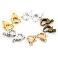 20 قطع الكلاسيكية القلب جراد البحر المشبك هوك صنع المجوهرات النتائج diy أساور قلادة سلسلة المفاتيح انقسام الحلقة الساخنة