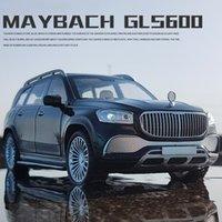 124 مايوباخ GLS600 نموذج سيارة معدنية دييكاست سبيكة عالية محاكاة نماذج السيارات 6 أبواب يمكن فتح ألعاب الجمود للأطفال
