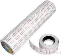 100 Rolls =10 Barrels Wholesales White Paper Price Tag Price Lable For Mx -5500 Price Gun Labeller