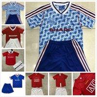 Kit Kit Kit Manchester Beckham Giggs Solskjaer Retro Soccer Jersey Final 1984 1985 1986 1990 1992 1998 1999 2000 2007 MAN UTD Classic Boys Football Shirt Uniforme