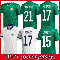 2021 أيرلندا الشمالية لكرة القدم جيرسي Lafferty Home Away الكبار الرجال + أطقم أطفال ديفيس ماجيس إيفانز ماكنير بويس لكرة القدم قميص