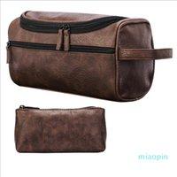 Портативные косметические сумки Сумки для стирки Многофункциональная сумка для хранения Водонепроницаемая PU Кожаные пакеты сцепления