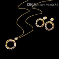 Woman Stud Earrings Designer Carti Pendant Necklaces Screw Bracelet Rings Loves Fashion With Box A1