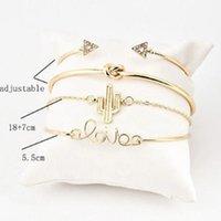 Bangle 4pcs Set Fashion Crystal Bracelet Jewelry Charm For Women Gold Bracelets Femme
