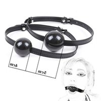 BDSM Open Mouth Plug Silicone Ball Gag Leather Muzzle Belt Slave Fantasy Bondage Oral Fixed Couple Flirting Sex Toys For Woman