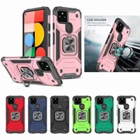Cell Phone Cases For iPhone 12 Mini 11 Pro Max SE 2 X XR Xs 6 6s 7 8 Plus Armor Shockproof Finger Ring Car Holder Stand Magnetic Cover