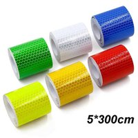 5cm*300cm Car Reflective Tape Decoration Stickers Fenders Warning Safety Reflection Film Auto Reflector Sticker on Styling
