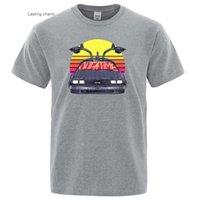 Men's Dress Shirts Me Ba To The Future Prints T-shirts Around Ne T-shirt Bhing Soft Cloth Oveized Comfoable Men