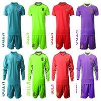 2021 Portero David de Gea España Portero Kids Arrizabalaga Soccer Jersey Set Iker Casillas Unai Simon Pepe Reina Football Shirt Kits