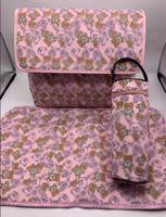3pcs / Set Baby Diaper Bags Letter Stampa è dotata di cambio mat e custodia per bottiglia di alta qualità pannolino mamma zaino borsa zaino