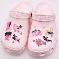 9 стилей аксессуары для обуви розовый Jibbitz засорение заморозки PVC резиновые пряжки личности логотип