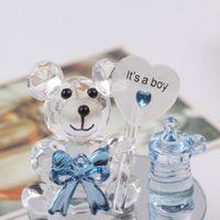 Crystal Bear Nipplist Batteslism Baby Shower Souvenirs Party Christenzione Giveaway Regalo Bomboniere e regali per il Guest 5 Pz Favori