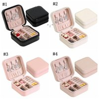 New Storage Box Travel Jewelry Boxes Organizer PU Leather Display Storage Case Necklace Earrings Rings Jewelry Holder Case Boxes OWE9726
