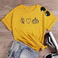 Fall Love Pumpkin T-Shirt 100% Cotton Street Styletumblr Unisex Women Graphic Camisetas Quote Aesthetic Fashion Tshirt Top Tee Women's