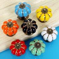 Ceramic Handles and Handle Pumpkin Shape Pull Cabinet Door Lovely Children's Furniture Drawer Cabinet Hardware Porcelain Handles