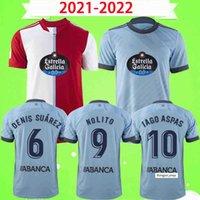 21 22 Celta de Vigo Futebol Jerseys Iago Aspas 2021 2022 Camiseta Fúltbol Nolito F.Beltran Hugo Mallo Solari S. Mina Brais Méndez Home