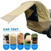 Палатки и приюты 2021 полиэстер автомобиль багажника палатки палатки внедорожника Самостоятельное укрытие лучи барбекю Кемпинг удлинитель для хвоста на солнцезащитный дождевой турист