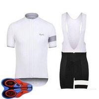 Rapha 팀 여름 남성 사이클링 저지 세트 짧은 소매 셔츠 턱받이 반바지 레이싱 자전거 유니폼 야외 스포츠 의상 Ropa Ciclismo S21040607