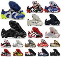 Мужчины Хищник Абсолютный 20 Ускоритель Вечный класс 20+ Футбольная обувь Мутатор Mania Tolementor Электричество Точность Электричество 20 + X FG Beckham Zidane Clears Футбольные ботинки