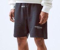 Fear Of God Essentials Reflektierende Shorts Vintage High Street Elastische Taille Kurze Hose FOG Sport Loose Casual Terry und Mesh Shorts